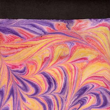 Thai Marbled Kozo Purple Yellow Swirl-NEW!