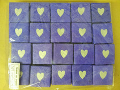 I Heart Lokta: Bundle of 20 Purple Lokta Boxes with Silver Hearts