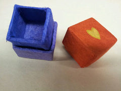 I Heart Lokta: Bundle of 24 Red Lokta Boxes with Gold Hearts