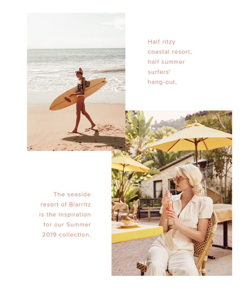Half ritzy coastal resort, half summer surfers' hang-out.