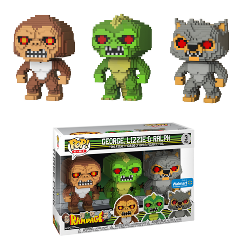 Coming Soon: Walmart Exclusive Rampage 8-Bit Pop! 3-Pack! | Funko