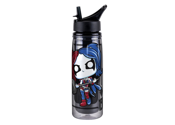 DC: Acrylic Water Bottle - Harley Quinn