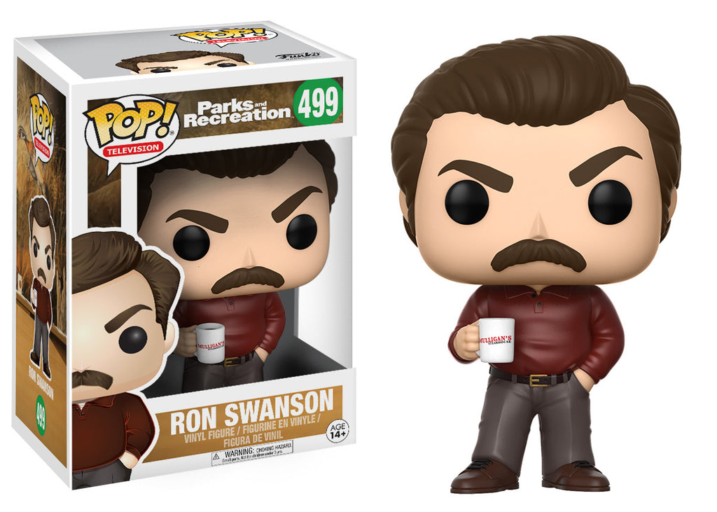 Pop Television Parks And Recreation Ron Swanson Funko