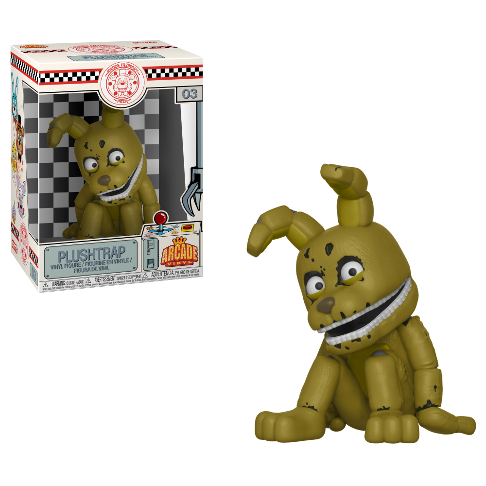 arcade vinyl five nights at freddy s plushtrap plush catalog