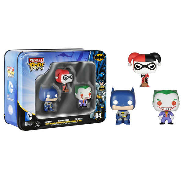 Funko Pocket Pop! DC 3 pack Tin- Batman, Harley & Joker