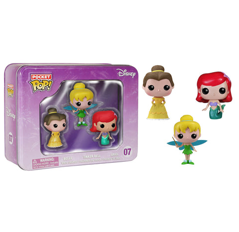 Pocket Pop! Disney 3-Pack Tin: Ariel, Tinkerbell and Belle