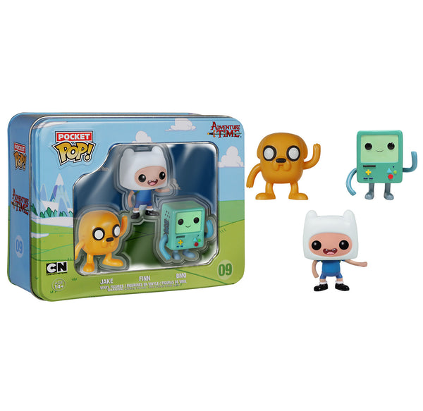 Pocket Pop! Adventure Time 3-Pack Tin - Jake, Finn, and BMO
