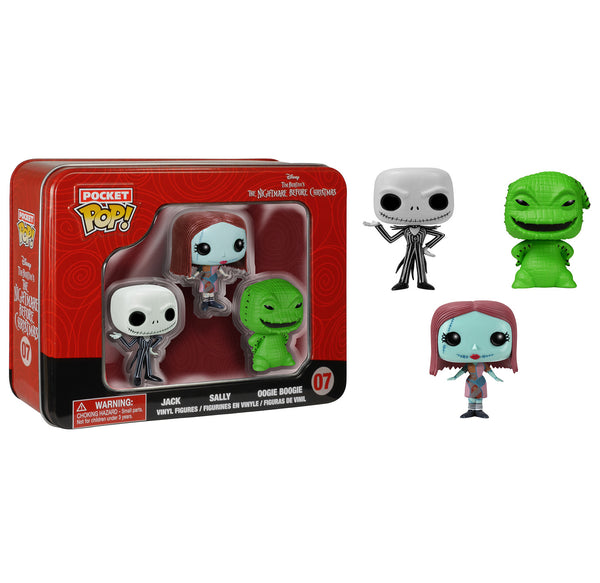 Pocket Pop! NBC 3 Pack Tin - Jack, Sally, and Oogie Boogie
