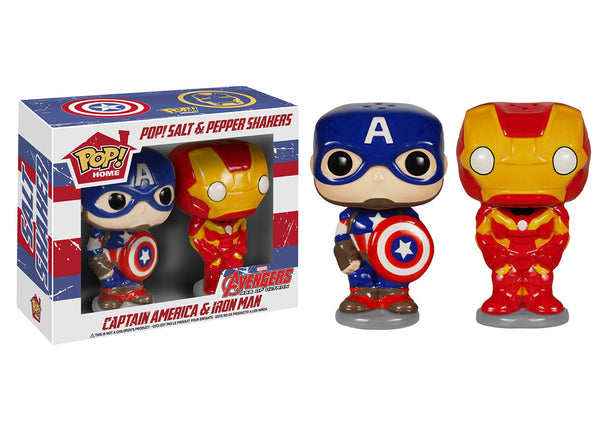 Pop! Home: Captain American & Iron Man Salt N' Pepper Shakers