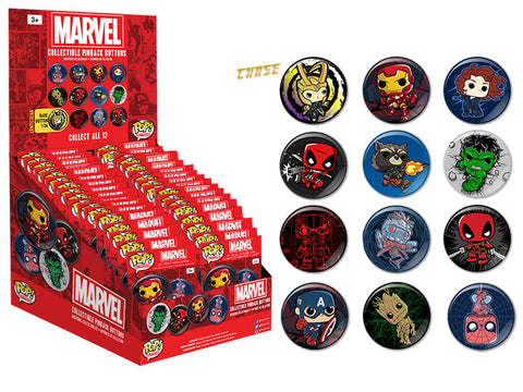 Pop! Buttons Blind Bag: Marvel
