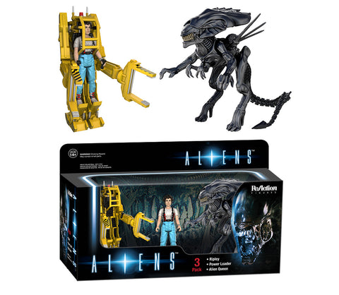 ReAction: Aliens 3pk - Ripley, Power Loader, Queen