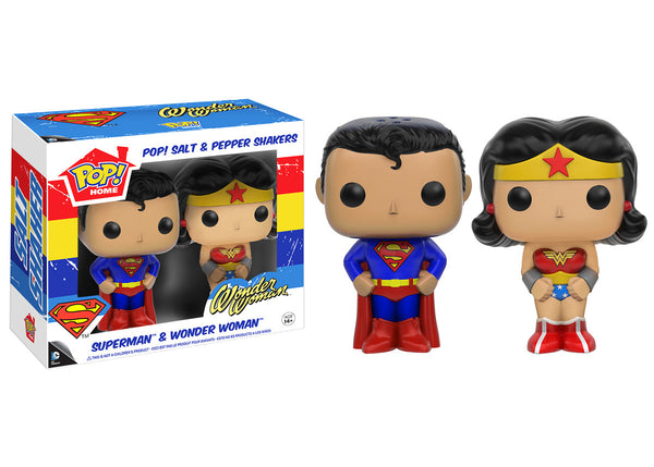 Pop! Home: Superman & Wonder Woman Salt N' Pepper Shakers