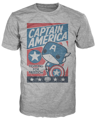 Pop! Tees: Marvel - Captain America