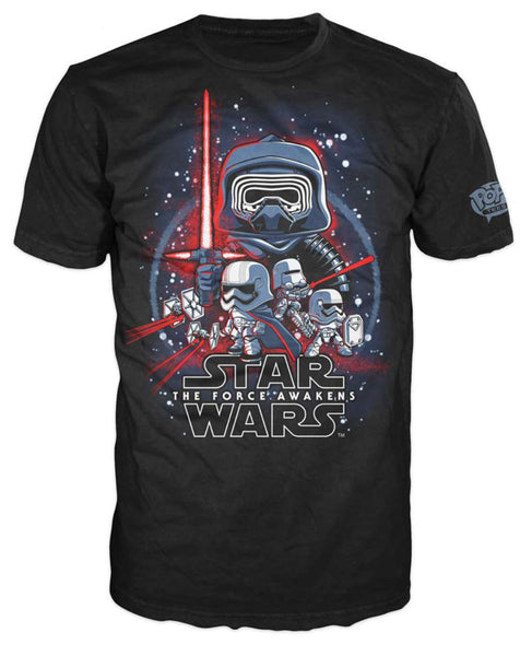 Pop! Tees: Star Wars - Force Awakens Poster