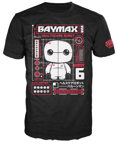 Pop! Tees: Disney - Baymax Blueprint