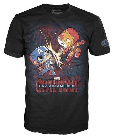 Pop! Tees: Marvel - Civil War Fight