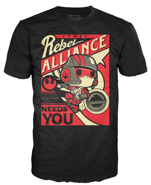 Pop! Tees: Star Wars - Poe Propaganda