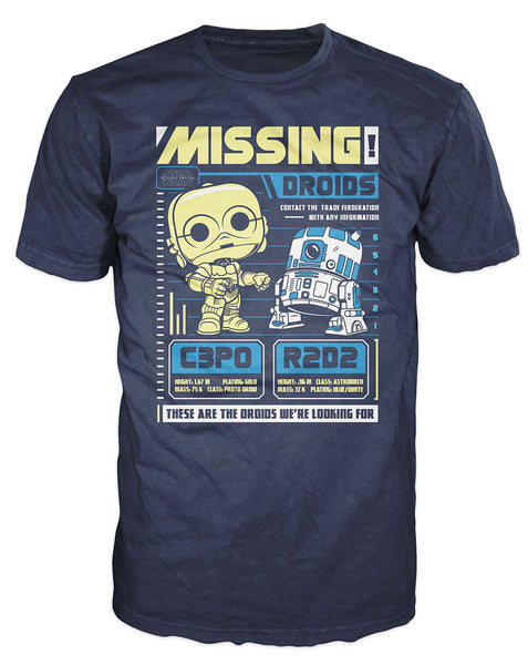 Pop! Tees: Star Wars - C-3PO R2-D2 Poster