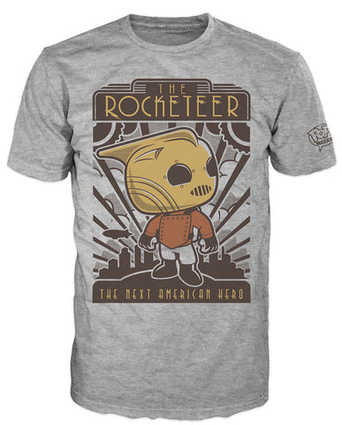 Pop! Tees: Disney - Rocketeer Hero Poster