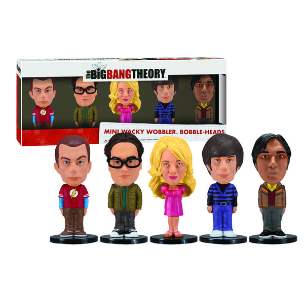 Mini Wacky Wobbler Set: Big Bang Theory