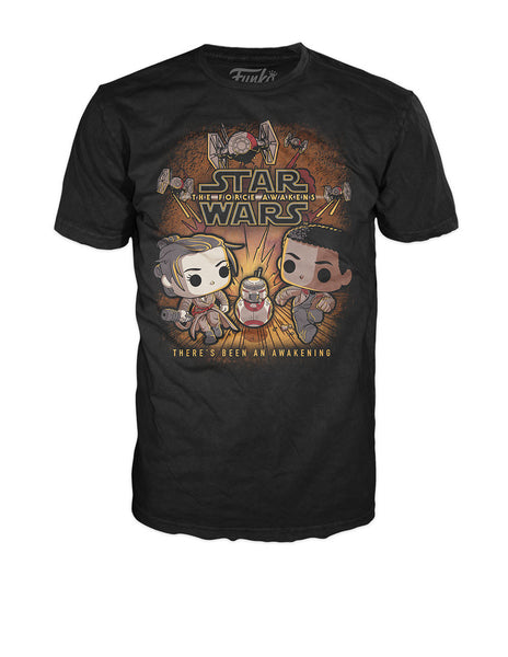 Pop! Tees: Star Wars - Rey Finn Running