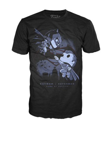 Pop! Tees: DC - Batman Fighting Superman
