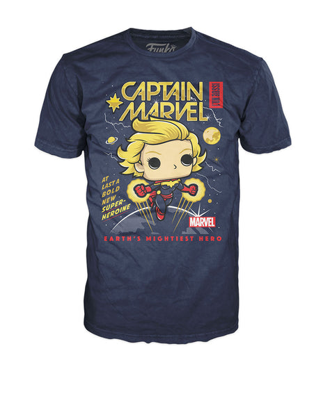 Pop! Tees: Marvel - Captain Marvel Comic