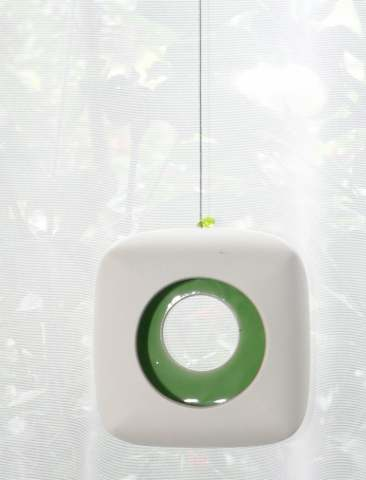 Hanging Candle Holder- Cube - Outdoor/Indoor - Green