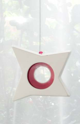 Hanging Candle Holder- Star - Outdoor/Indoor - Pink