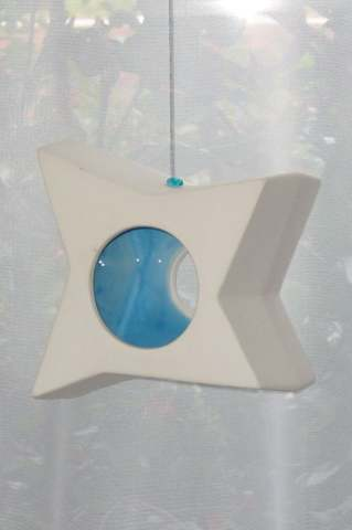 Hanging Candle Holder- Star - Outdoor/Indoor - Blue
