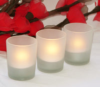 Frosted Glass Tealight Votive Candle Holder - 6.5cm Tall
