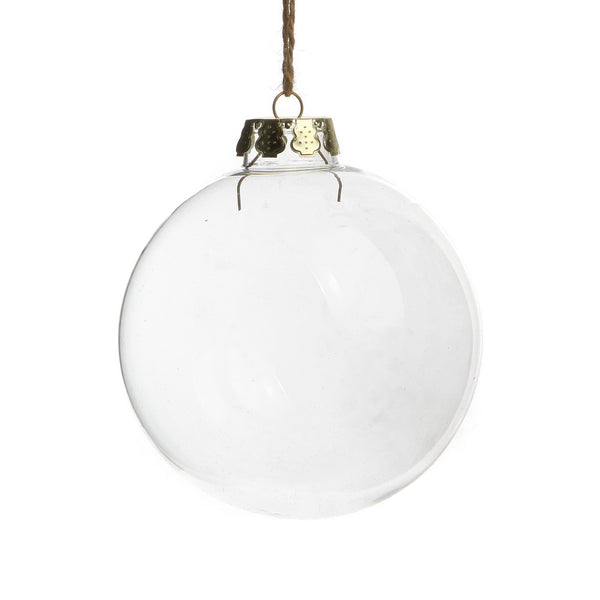 6cm Glass memory Bauble - ideal for wedding centrepiece or xmas tree