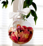 8cm Glass memory Bauble - Table Centrepiece decoration - Add personal touch