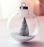 5cm Glass Memory Bauble - wedding centrepiece bomboniere or xmas tree