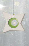 Hanging Candle Holder- Star - Outdoor/Indoor - Green