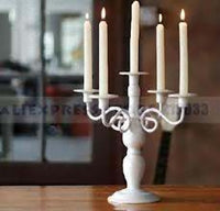 Taper Candleabra thin white wax candles 23cm high