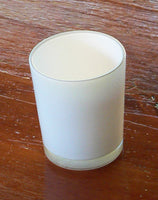 Pure White Glass Holder for Votive or Tea Light Candles - Wedding Table Decor