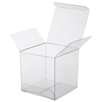 Clear Plastic 8x5cm Rectangle PVC Gift Box - Bomboniere or tealight Holder