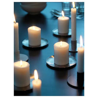 Mixed Pack Pillar candles 8cm to 17cm high - wedding table centrepiece design idea