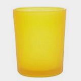 Yellow Frosted Glass Tea Light Votive Cup Candle Holder - 6cm x 5cm