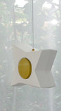 Hanging Candle Holder- Star - Outdoor/Indoor - Yellow