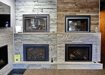 fireplace inserts showroom from Hearth and Home Syracuse NY