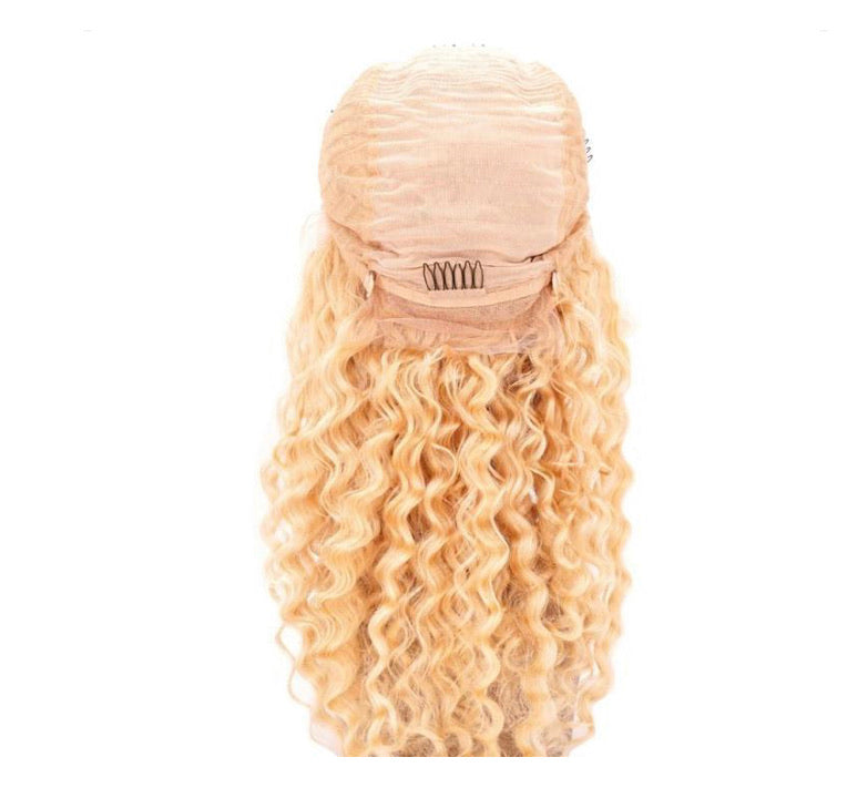 Blonde Deep Wave Full Lace Wig