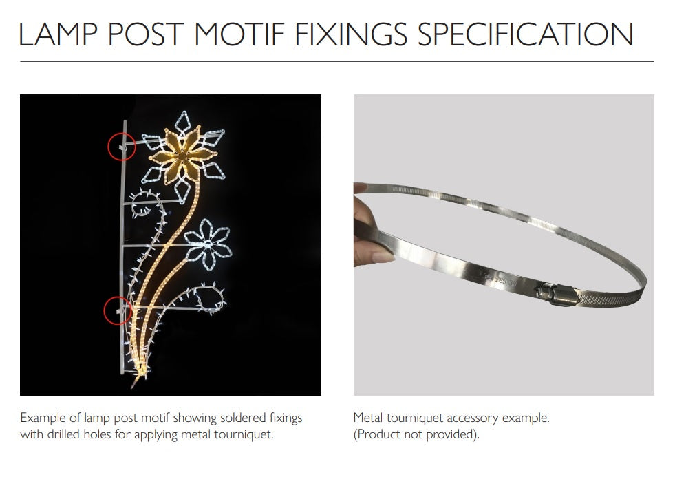 Lamp Post Motif Fixings Specifications