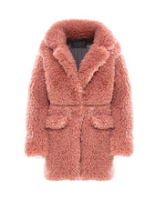 Load image into Gallery viewer, MARK FAST Women Furry Teddy Faux Fur Lapel Oversize Coat