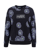 Load image into Gallery viewer, MARK FAST Women Little Violet Pattern Crew Neck Sweatshirt