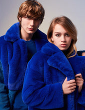Load image into Gallery viewer, MARK FAST Women Furry Teddy Faux Fur Lapel Oversize Long Coat