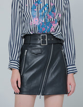 Load image into Gallery viewer, Classic black leather skirt (5561338626208)