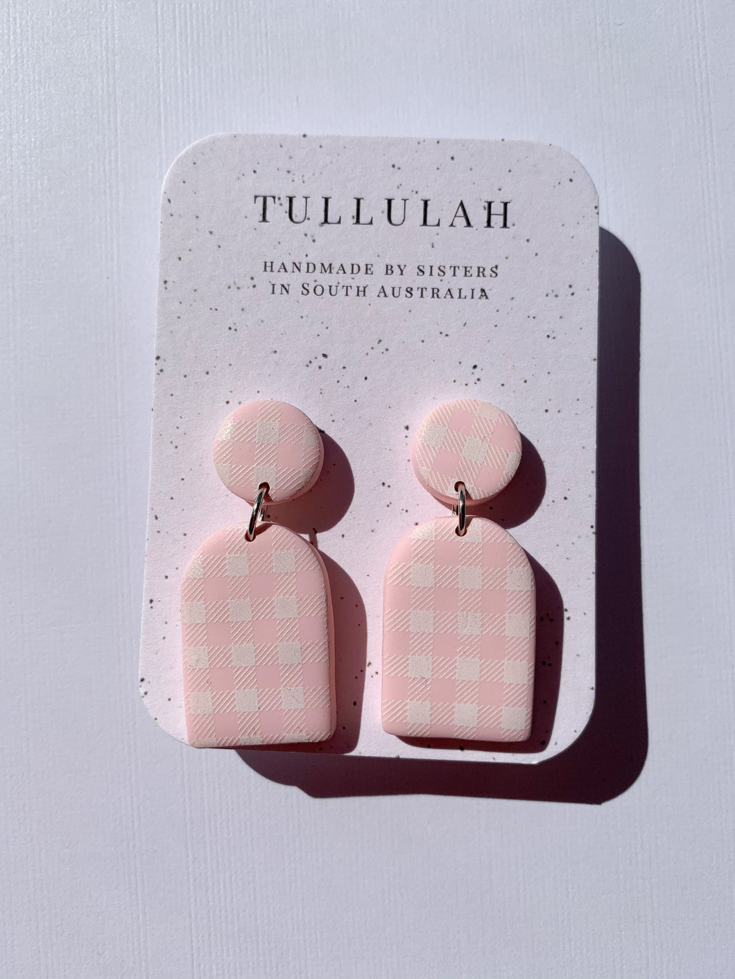 Pink Gingham dangle