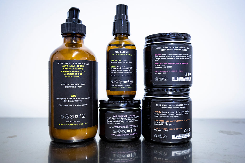 arcadian mens grooming vegan products